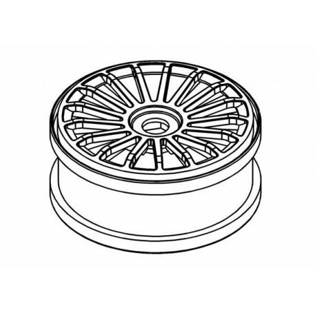 Wheel White 17 Spoke 180mm
