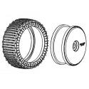 Tyre 180mm Micro Stud V2 BM LW + Wheel White
