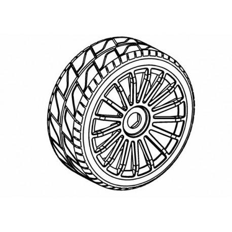 Tyre 180mm Asphalt RS + Wheel Black 17 Spoke