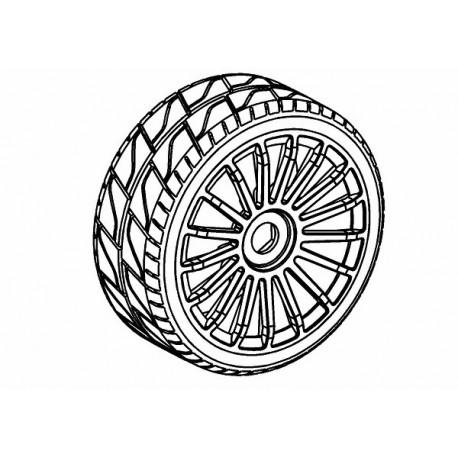 Tyre 180mm Asphalt RM + Wheel Black 17 Spoke