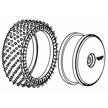 Tyre 180mm Astro-Max WM + Wheel White