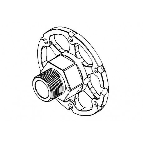 Hydrax Wheel / Disc Drive Block +10mm Offset