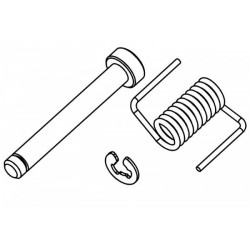 Fuel Tank Lid Pin / Spring / Clip