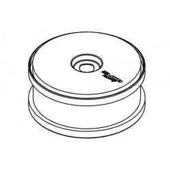 Wheel White Dish Disc 180mm