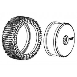 Tyre 180mm Micro Stud V2 BS LW + Wheel Black
