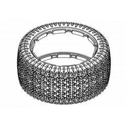 Tyre 190mm Xross-Max Bite White Spot