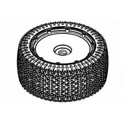Tyre 190mm Xross-Max Bite White Spot + Black Wheel Assy