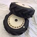 Tractor Tyre + Speed Disk EVO White Wheel Assy White Spot