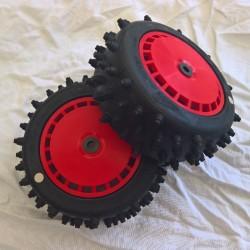 Step Stud Tyre + Speed Disk EVO Red Wheel Assy White Spot