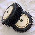 Multi Stud Tyre + Speed Disk EVO White Wheel Assy White Spot