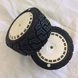 Rally Gravel Tyre White Speedline Wheel Assy White Spot