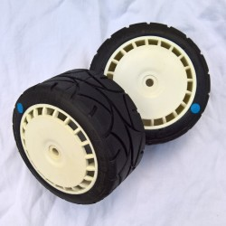 Rally Gravel Tyre White Speedline Wheel Assy Blue Spot