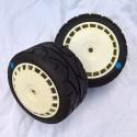 Rally Asphalt Tyre White Speedline Wheel Assy Blue Spot