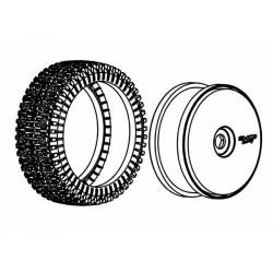 Tyre 180mm Dirt-Xross Blue Medium + Wheels