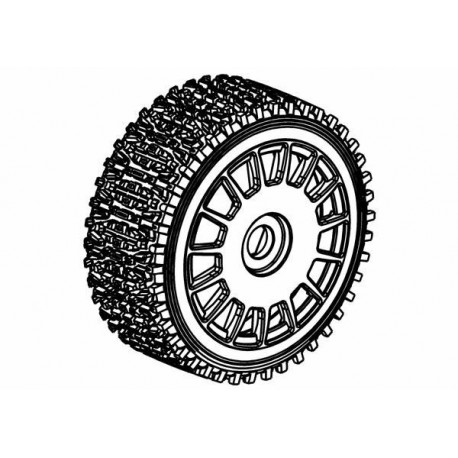 Tyre 160mm Dirt Xross Rally Blue Soft + White Wheels
