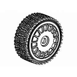 Tyre 160mm Dirt Xross Rally Blue Medium + White Wheels
